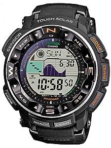Casio PRW-2500-1ER - Reloj digital de cuarzo para hombre con correa de resina, color negro de Casio