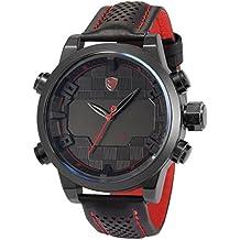 Shark SH203 - Reloj para hombre, LED, color rojo