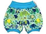 Kleine Könige Kurze Pumphose Baby Jungen Shorts · Modell Elefantenparty türkis Petrol hell · Ökotex 100 Zertifiziert · Größe 62/68