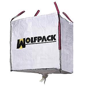 51ykMgBw6TL. SS300  - WOLFPACK LINEA PROFESIONAL 2240605 Saco Obra Big Bag 90x90x90cm. con Válvula. Carga máxima seg. 1.000Kg