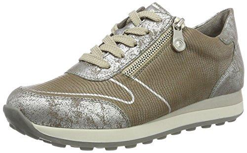 Rieker Women's N1821 Low-Top Sneakers, Silver (Silber/Steel/90), 8 UK