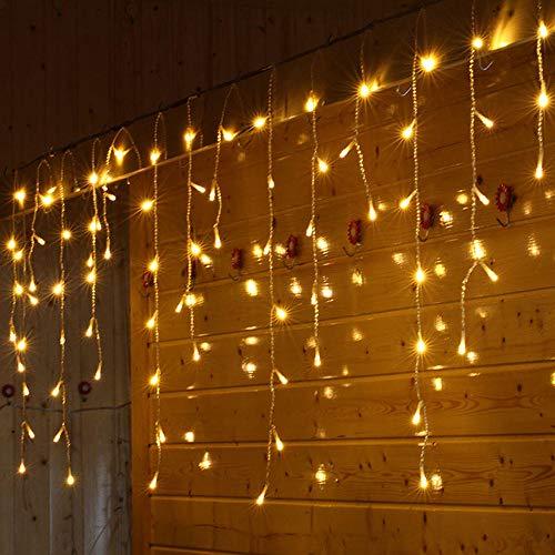 Luces hadas 1.5 * 0.5 m cadena cortina led luces hadas