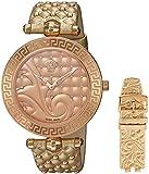 Versace Reloj Analógico para Mujer de Cuarzo con Correa en Cuero VK7190014