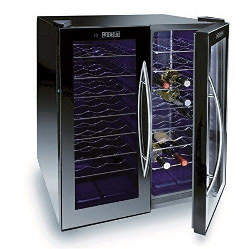 Schwarz Thermoelektrische Weinkühler (Lacor Line 48Flaschen Thermoelektrische Weinkühler, schwarz, 52x 70x 52cm)