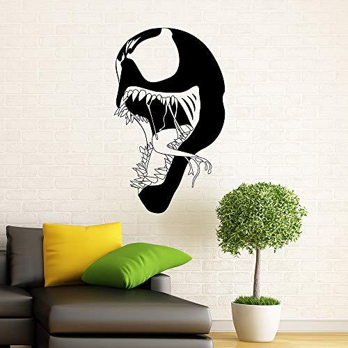guijiumai Symbiote Wandtattoo Vinyl Aufkleber New s Superhero Wandaufkleber Schlafzimmer Wohnzimmer Dekoration Selbstklebend weiß 95x57 cm (Männer Diesel Köln)