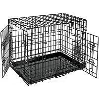 AUFUN Hundekäfig Faltbar XXL - Stabil Transportkäfig Hundebox mit 2 Türen - 122x80x69cm (XXL)