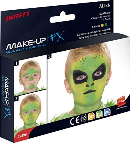 Alien Aqua Gesichts- und (Aliens Kit Kostüm)