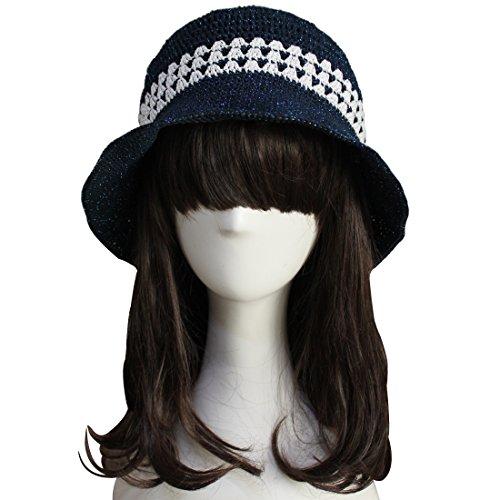 ZORJAR Damen Fischerhut One size Gr. One size, Three Stripes Navy (Cashmere Black Cable Knit)