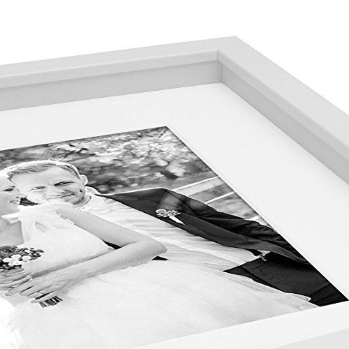 Bilderrahmen Objektrahmen 3D-Rahmen Modern Tief MDF-Rahmen mit Passepartout u. Glasscheibe / Fotorahmen