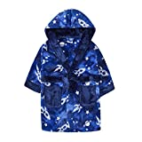 MiniKidz & 4Kidz Enfants/garçons l'espace Bleu Impression Peluche Polaire Robe de Chambre (11-12 Ans)