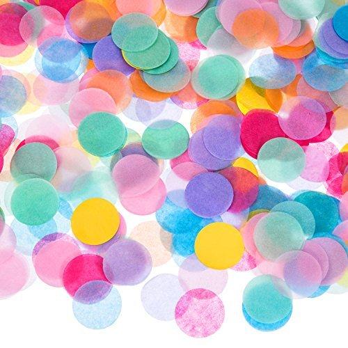 1 Zoll Mehrfarbig Runde Tissue Konfetti , 10000 Stück (Rosa Bett In Einem Beutel)