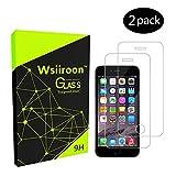 Schutzfolie für iPhone SE 5S 5, [2 Stück] Wsiiroon Panzerglas, 9H Härte-0.33mm, 99% Transparente Anti-Öl, Anti-Bläschen Displayschutzfolie für iPhone SE 5S 5 5C