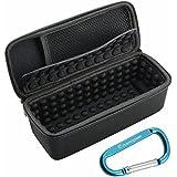 Estuche portátil Lycra EVA Viajes Almacenamiento funda protectora de la caja del bolso para Bose SoundLink Mini y Bose SoundLink Mini 2 & Sony SRS-X33 Sony SRS-X2 Anker SoundCore Bluetooth Wireless Speaker-Negro