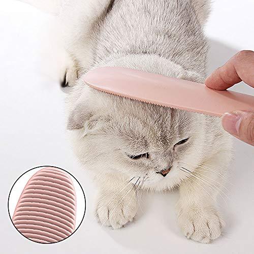 Katzenbürste Kamm Fellpflege Katze Zunge Bürste Katzenkamm,Massagebürste Massagekamm für Haustier Katzen,Katzenkämme Haustierbürste Langhaar Kurzhaar Haustierkamm mit Massage Funktion Zunge Form Pink