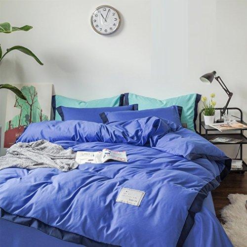 Mode Bettbezug-Sets Baumwoll-Bettbezug Bettbezug Dicker Einfarb-Bettwäsche Bettbezug Bettwäsche Bettwäsche & Kissenbezüge Bettbezüge-Sets,C,150*200CM