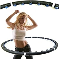 HULA HOOP PROFESSIONAL WEIGHTED MAGNETIC FITNESS EXERCISE MASSAGER ABS WORKOUT