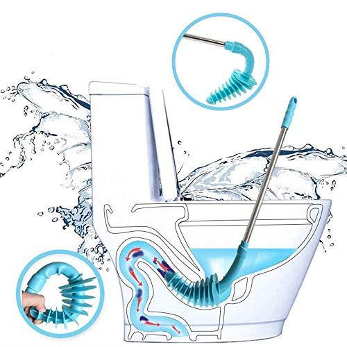 New Design WC Kolben, Kolben Replica Typ WC-Verstopfen Entferner, flexible Gummi Kopf Edelstahl Griff, WC-Schleppnetz) Rohr für Verstopft Siphon WC -