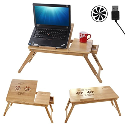 Parasnath Prime Offer Bamboo Wooden, Foldable, Multipurpose (Study / Reading / Eating / Craft-work) Laptop Table (Lifetime Warranty*Made In India)  available at amazon for Rs.1099