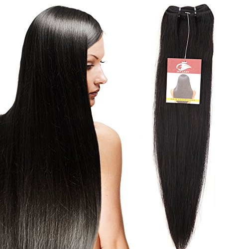 My lady 50cm extension capelli veri matassa tessitura lisci 1 ciocca 100g/bundle 100% remy human hair straight lunghi naturali