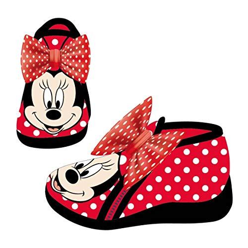 Artesania Cerda Zapatillas De Casa Media Bota Minnie, Niñas, Rojo (Rojo C06), 23 EU
