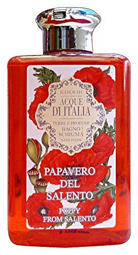 HANORAH ACQUE D'ITALIA Bagno PAPAVERO DEL SALENTO 300 Ml. Saponi e cosmetici