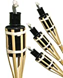 16pezzi Torce in bambù Torce fiaccole öllampen giardino, Party lampada 42cm in bambù, iapyx®