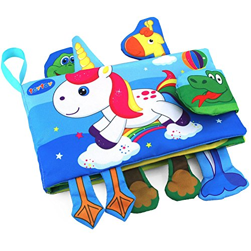 Soft Activity Baby Book Animal TEYTOY Early Education Toys Activity Cloth Book for Toddler