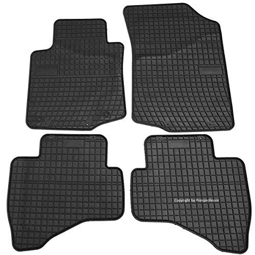 Preisvergleich Produktbild Gummi Auto Fußmatten exakter Passorm 4-teilig CTR-0639