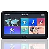 Jimwey GPS Navi Navigation für Auto LKW PKW 7 Zoll 8GB 256MB Lebenslang Kostenloses Kartenupdate, Navigationsgerät mit POI Blitzerwarnung Sprachführung Fahrspurassistent 2018 Europa UK 52 Karten