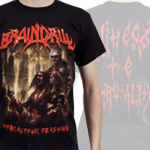 Brain Drill-Apocalyptic Feasting-Maglietta da uomo nero Large