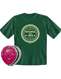 T-Shirt Fun Shirt Original seit 1966 zum 50. Geburtstag und 5 Luftballons verschiedene Motive und Farben waehlbar
