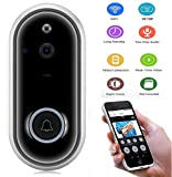Smart Wireless Video Doorbell, UMIWE Home Anti-Theft 720P HD WiFi Security Camera Real-Time