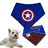 Spoilt Rotten Pets SMALL SIZE Super Hero Captain America - Avengers Bandana Cape For Your Pooch.