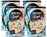 NESCAFÉ frappé Typ Eiskaffee, Getränkepulver mit löslichem Bohnenkaffee, zarte Mokka-Note, koffeinhaltig, ideal im Sommer, Menge: 4er Pack (4 x 275 g)