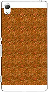 The Racoon Lean printed designer hard back mobile phone case cover for Sony Xperia Z3 Plus. (seamless w)