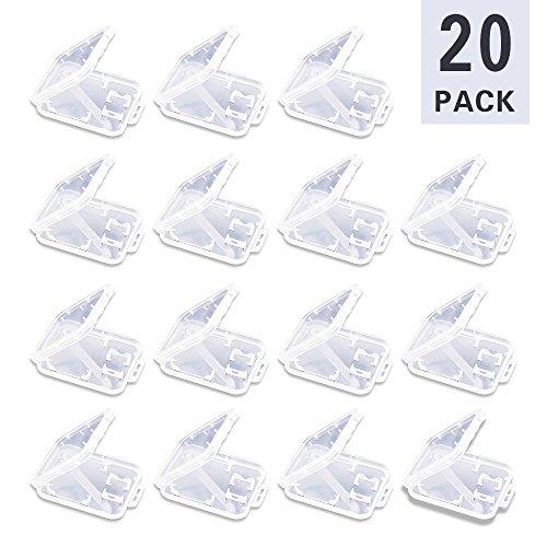 Doutop Speicherkarte Hülle für SD TF MMC Micro SD SDHC 20 Stück Schutzhülle Aufbewahrung