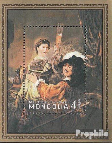 Prophila Collection Mongolei Block74 (kompl.Ausg.) 1981 Rembrandt (Briefmarken für Sammler) Malerei