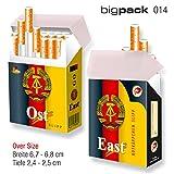 3er SET indo slipp | schicke Papp-Etuis für Zigarettenschachteln | Größe: Bigpack Oversize | Motiv: 014 Ost / East