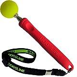 Dogsline Target Stick con porta-Pennino per educazione formazione e allenamento, acciaio inossidabile, 17–73cm rosso, dl16tsa