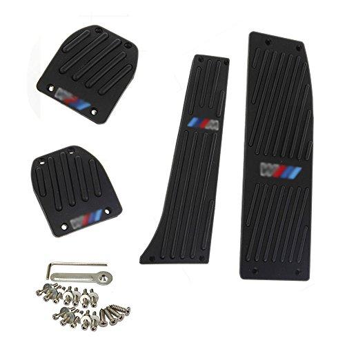 Orel_carparts 4pcs/Set Schwarz MT Fußstütze Pedale Pedal Set