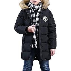 Phorecys - Abrigo - Manga Larga - para Niño Negro 13-14 Años