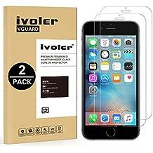 [2 Unidades] iPhone 6 / 6s Protector de Pantalla, iVoler Protector de Pantalla de Vidrio Templado Cristal Protector para iPhone 6 / 6s -Dureza de Grado 9H, Espesor 0.30 mm, 2.5D Round Edge-[Ultra-trasparente] [Anti-golpe] [Ajuste Perfecto] [No hay Burbujas]- Garantía Incondicional de 18 Meses