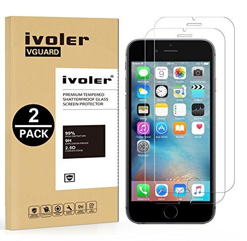 [Lot de 2] iPhone 8 / 7 / 6S / 6 Protection écran, iVoler® [Compatible fonction 3D Touch] Film Protection d'écran en Verre Trempé Glass Screen Protector Vitre Tempered pour Apple iPhone 8 / 7 / 6S / 6 4.7''- Dureté 9H, Ultra-mince 0.30 mm, 2.5D Bords Arrondis- Anti-rayure, Anti-traces de doigts,Haute-réponse, Haute transparence- Garantie de Remplacement de 18 Mois