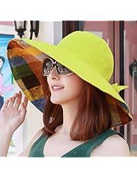 ERLINGSAN-MZ Sombrero Las niñas Usan Sombrero de Sol en Ambos Lados de los  Sombreros de Verano Gorras Sombrero… a75386f8b2b