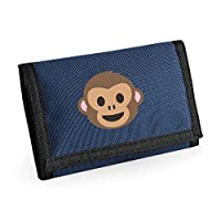 Apparel Printing Emoji Monkey Face Ripper Wallet French Navy