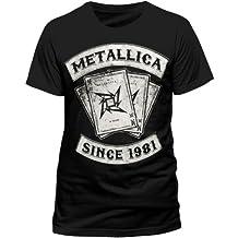 Live Nation - Camiseta de Metallica con cuello redondo de manga corta para hombre