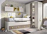 ambiato Kinderzimmer Jump 102 Stauraumbett Gästebett XXL Kleiderschrank individuelle Maßanfertigung