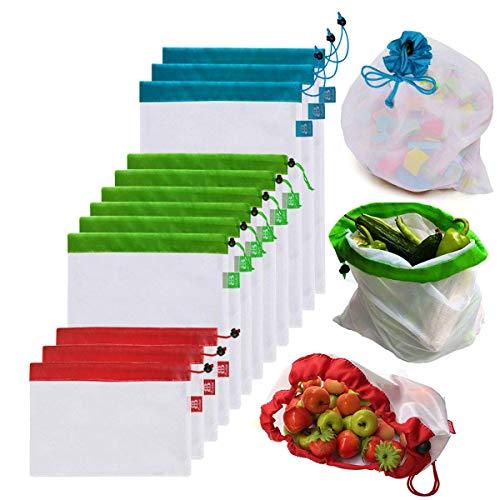 Awinker 12 Piezas Bolsas Compra Reutilizables Bolsa