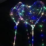 LEDMOMO LED Light Party Ballons, 2 Stück Licht Ballons Party Ballon Lichter für Geburtstag Weihnachten Hochzeit Halloween Party Dekoration