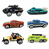 Wiki Toy Cars pour les enfants, Aolly Cars pour les enfants Jouets pour les garçons de 3-6 ans Grils Cadeaux pour les enfants de 2-6 ans Jouets pour les enfants Toy Cars Set Fête des mères Rac WKFRTTC06